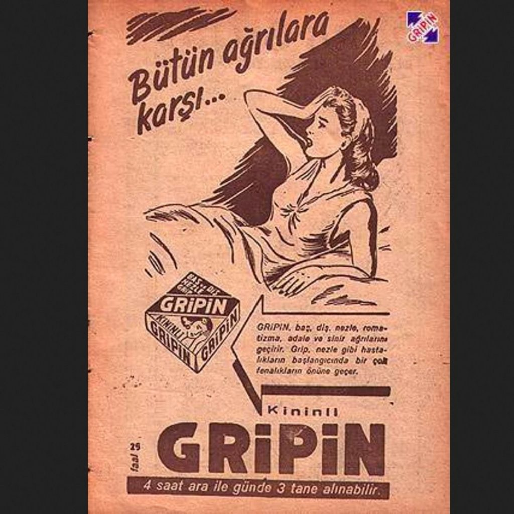 80'ler gripin ağrı kesici reklam