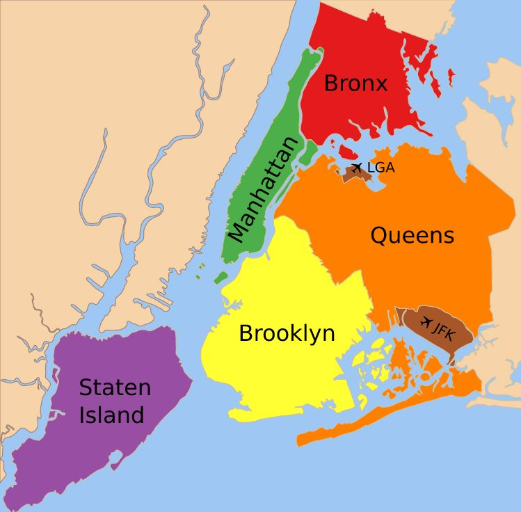 new york city haritası