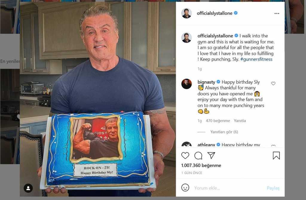 Sylvester Stallone doğum günü pastası
